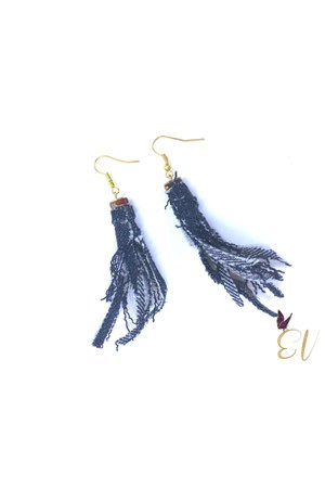 denim earrings Empress of Virtue earrings