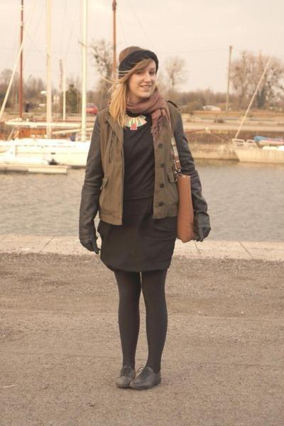 black La Redoute shoes - olive green Forever 21 jacket - black La Redoute skirt