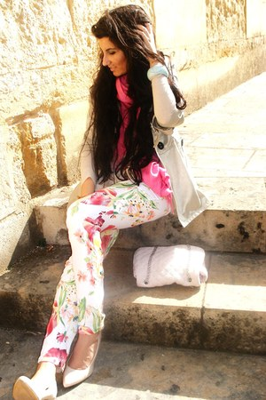 BLANCO heels - Zara blouse
