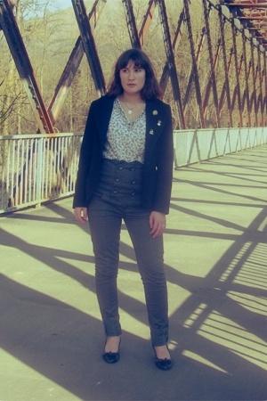 LA City blazer - Promod shirt - Bershka jeans