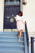 tan studded heeled ASH sandals - light pink satin Topshop blazer