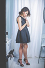 Black-cocktail-lucy-wang-dress-silver-pandora-accessories