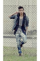 Diesel jeans - abercrombie and fitch jacket - Bershka top