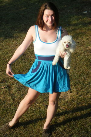 blue Energie Ross dress - brown Target shoes - white Poodle accessories