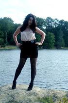 pink Target top - black Forever 21 skirt - black Target tights - black Charlotte