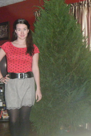 Target tights - Forever 21 blouse - Target skirt - unknown brand belt