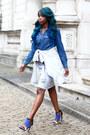 Topshop-shirt-zara-shirt-missguided-skirt-missguided-heels