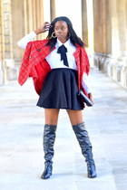 Dorothy Perkins boots - Miss Selfridge bag - H&M skirt - Boohoo cape
