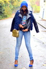 Light-blue-pull-bear-jeans-navy-h-by-henry-holland-jacket-blue-primark-bag
