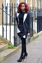 black H&M dress - black asos blazer - black asos skirt