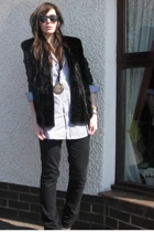 Gap shirt - Royer vest - Primark blazer - warehouse jeans - new look shoes