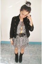 black vintage jacket - heather gray Petite Monde dress