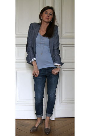 Zara blazer - Windeck shoes - H&M t-shirt