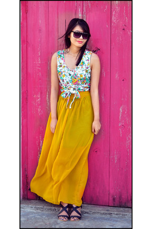 gold Topshop top