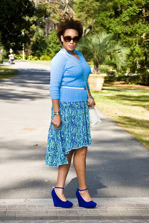 handmade skirt - TJ Maxx sweater - Chanel purse - Lotus Boutique wedges