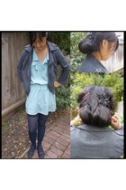 Von Mozart jacket - Target dress - Sheer Caress tights - vintage accessories - a