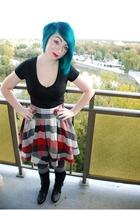 Wet Seal t-shirt - Forever 21 skirt - Walmart stockings - JCpenney socks
