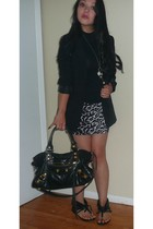 H&M blazer - balenciaga purse - H&M skirt - Chinese Laundry shoes - Forever 21 s