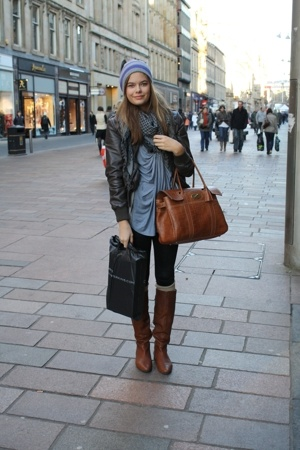 Mulberry purse - carlings hat - vagabond shoes - carlings coat - Zara shirt - sc