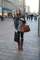 Mulberry purse - carlings hat - vagabond shoes - carlings coat - Zara shirt - sc
