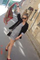 jacket - unknown brand shoes - purse - unknown brand dress - sunglasses - scarf