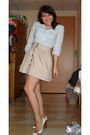 Blue-gap-blouse-beige-unkown-skirt-white-gianni-bini-shoes