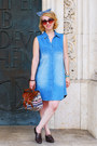 Light-blue-denim-new-yorker-dress-h-m-bag