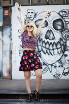 floral h&m divided skirt - black john lennon h&m divided sunglasses