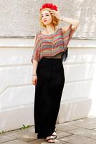 maxi c&a skirt - fringed cut-out Ann Christine top