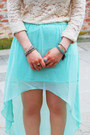 Aquamarine-longer-hem-new-yorker-skirt-ivory-lace-nasty-gal-top