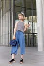 Blue-croco-box-zara-bag-black-platform-cos-sandals