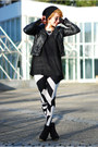 Black-grafik-print-asos-leggings-black-fake-leather-h-m-jacket