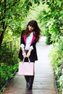 Navy-sheinside-coat-light-pink-parfois-bag-sky-blue-denim-oasap-blouse