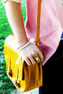 Bubble-gum-dip-dye-romwe-blazer-yellow-satchel-zara-bag