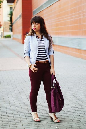 navy stripes c&a t-shirt - light blue stripes Cadena blazer