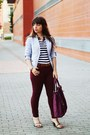 Light-blue-stripes-cadena-blazer-magenta-parfois-bag-magenta-primark-pants