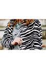 White-zebra-print-choies-coat-light-blue-lanidor-jeans