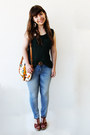 Sky-blue-lanidor-jeans-burnt-orange-bug-print-aldo-bag