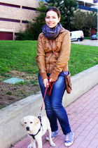 Bershka jacket - Zara jeans - Bershka sweater - satchel Primark bag