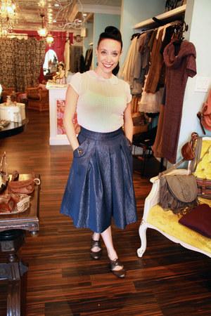 ArynK skirt - Newport News shoes - H&M blouse