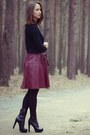 Brick-red-leather-max-co-skirt