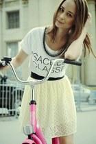 ivory asos skirt - white Zara shirt