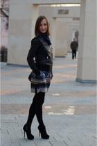 leather New Yorker jacket - silk Mango dress