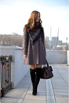 amethyst Mango coat - vintage scarf