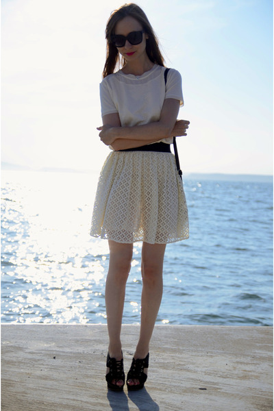 lace asos skirt - Mango t-shirt