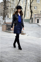 navy Mango shirt - black New Yorker jacket - blue Mango skirt