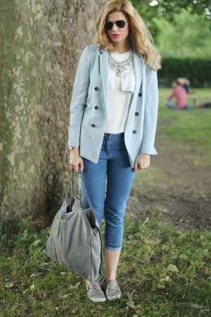 Zara blazer - Stella McCartney bag