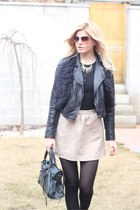 Zara skirt - Oasis jacket - balenciaga bag - new look necklace
