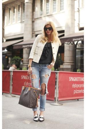 Zara jeans - dune shoes - Zara blazer