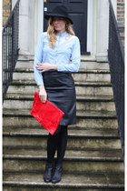 Atmosphere shirt - sam edelman boots - River Island skirt